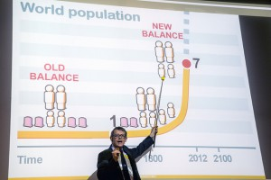 Hans Rosling talks about future population Credit: Christian Flemming/Lindau Nobel Laureate Meetings