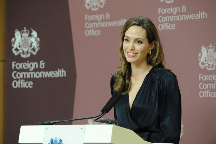 Ms Angelina Jolie at the launch of the UK initiative on preventing sexual violence in conflict, 29 May 2012. Photo: Foreign and Commonwealth Office 2012, Creative Commons