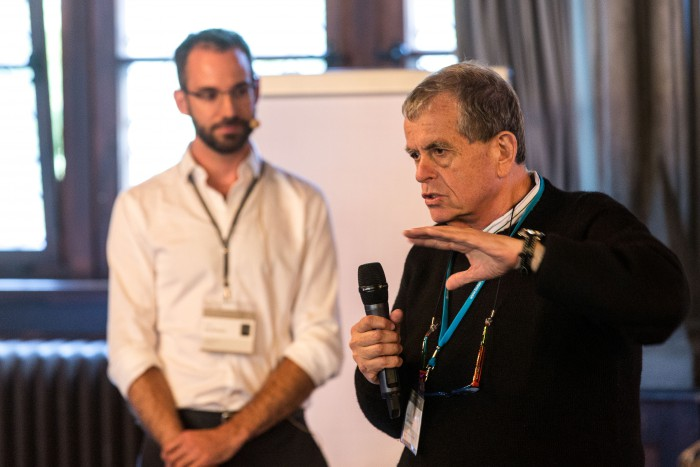 Aaron Ciechanover stresses the importance of genetic information protection, because 'personalized medicine penetrates into the most sensitive layer of our existence.' #lnlm14, Photo: Ch. Flemming
