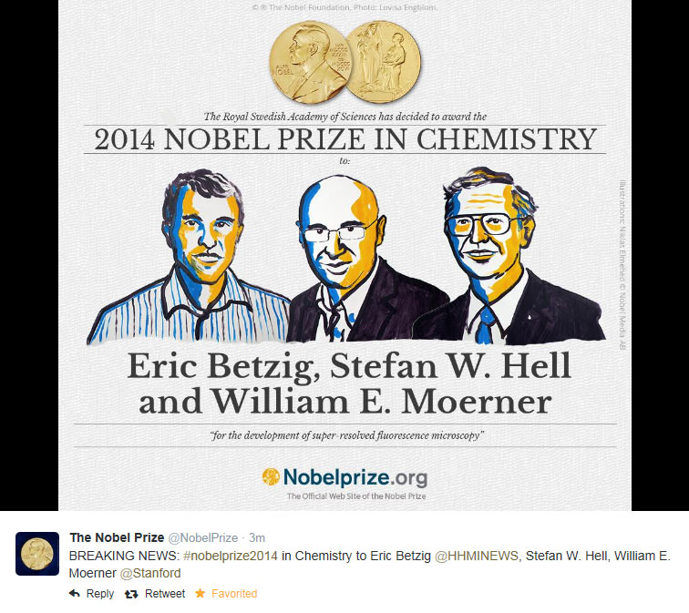 Screenshot of the announcement tweet from @NobelPrize.