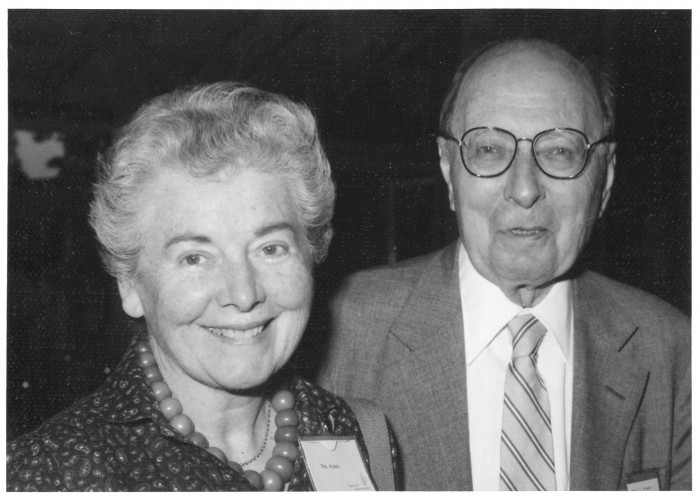Eugene Wigner with his third wife,  Eileen Clare-Patton Hamilton, called Pat, 1982 in Lindau. Photo: LNLM