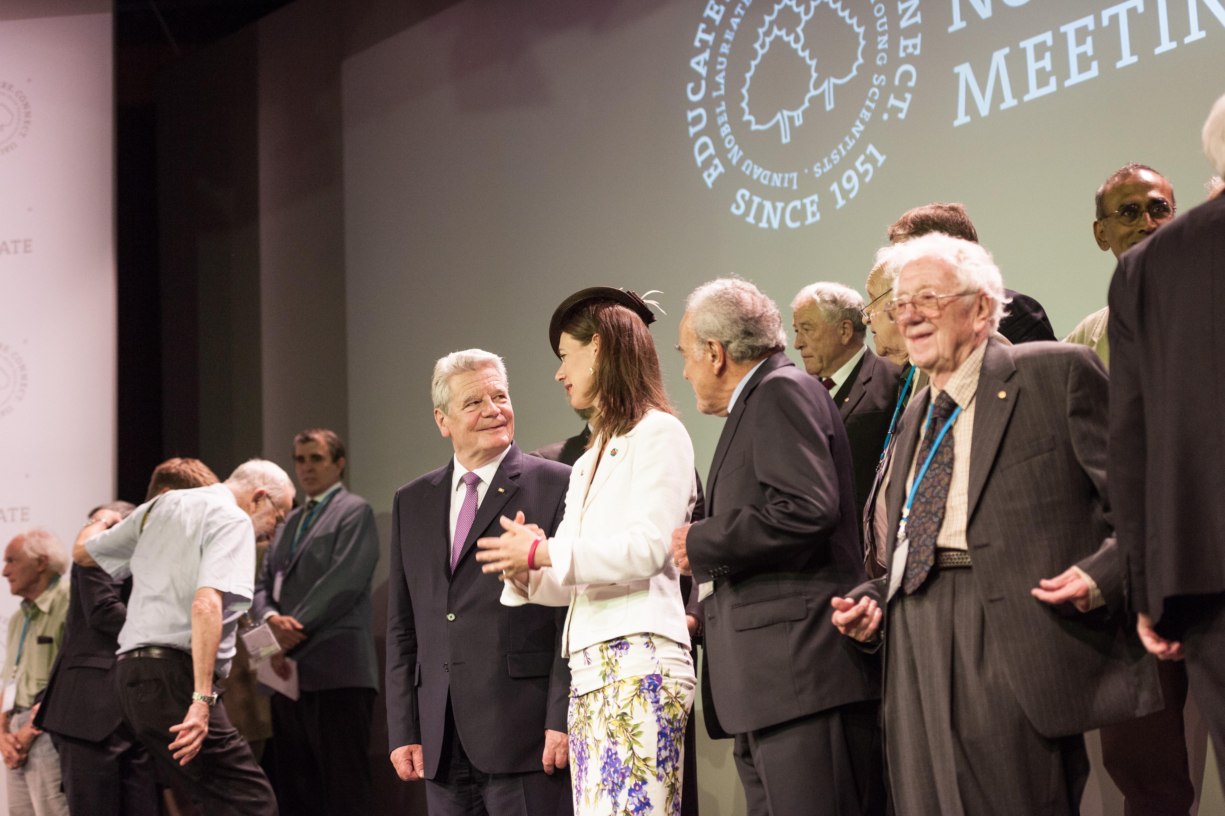 Bundespräsident Joachim Gauck hatte sichtlich Freude an seinem Lindau-Besuch. Foto: Adrian Schröder / Lindau Nobel Laureate Meetings.