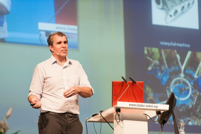 Eric Betzig giving his lecture