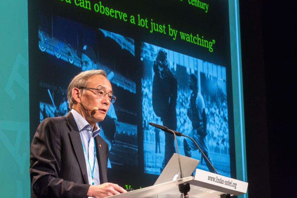 Steven Chu bei der 64. Lindauer Nobelpreisträgertagung, Foto: Ch. Flemming/Lindau Nobel Laureate Meeting