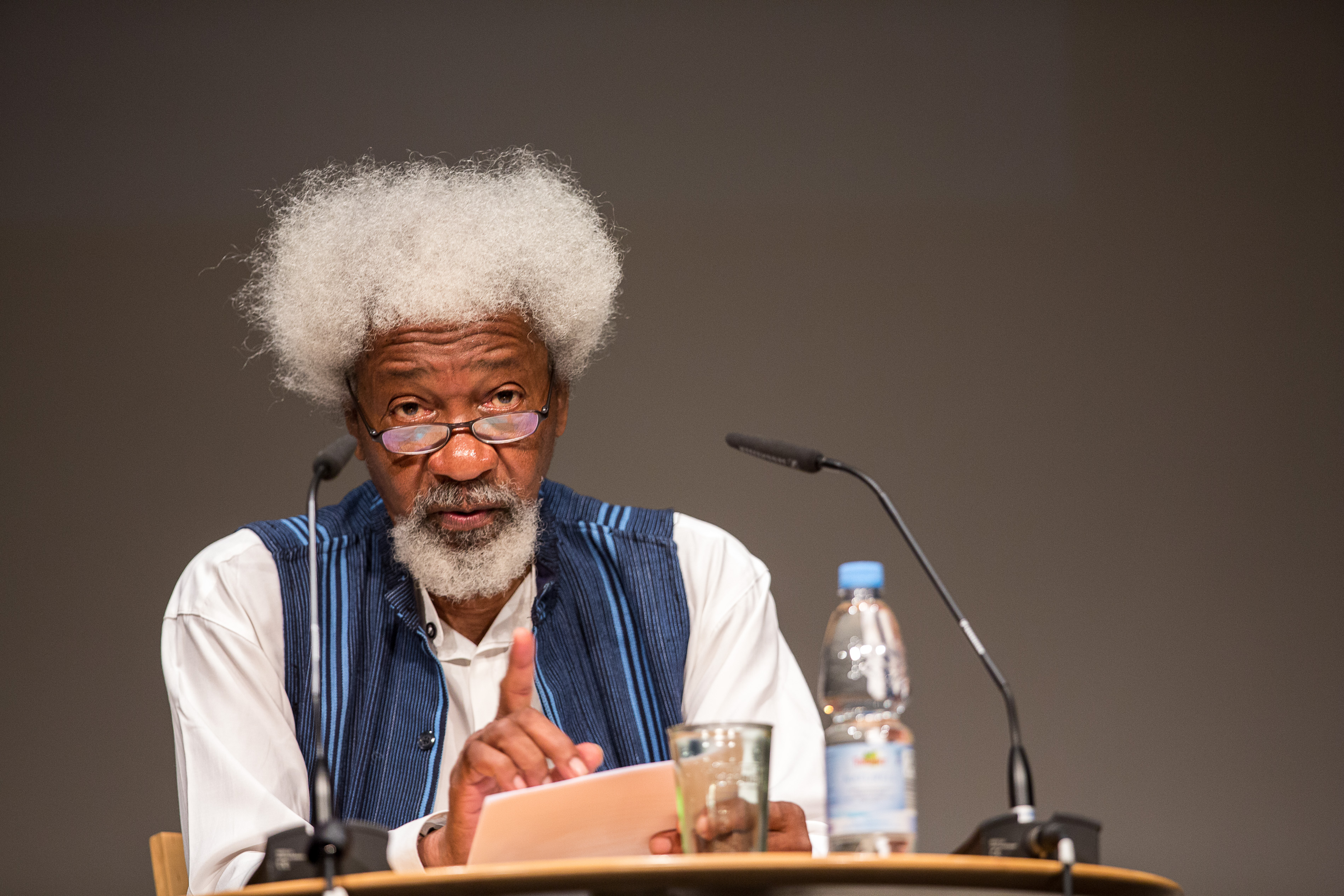 65th Lindau Nobel Laureate Meeting, Lindau, Germany Lecture Wole Soyinka Picture/Credit: Christian Flemming/Lindau Nobel Laureate Meetings