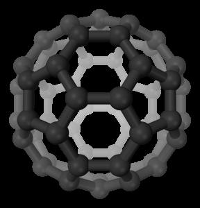 Struktur eines Buckminster-Fullerens