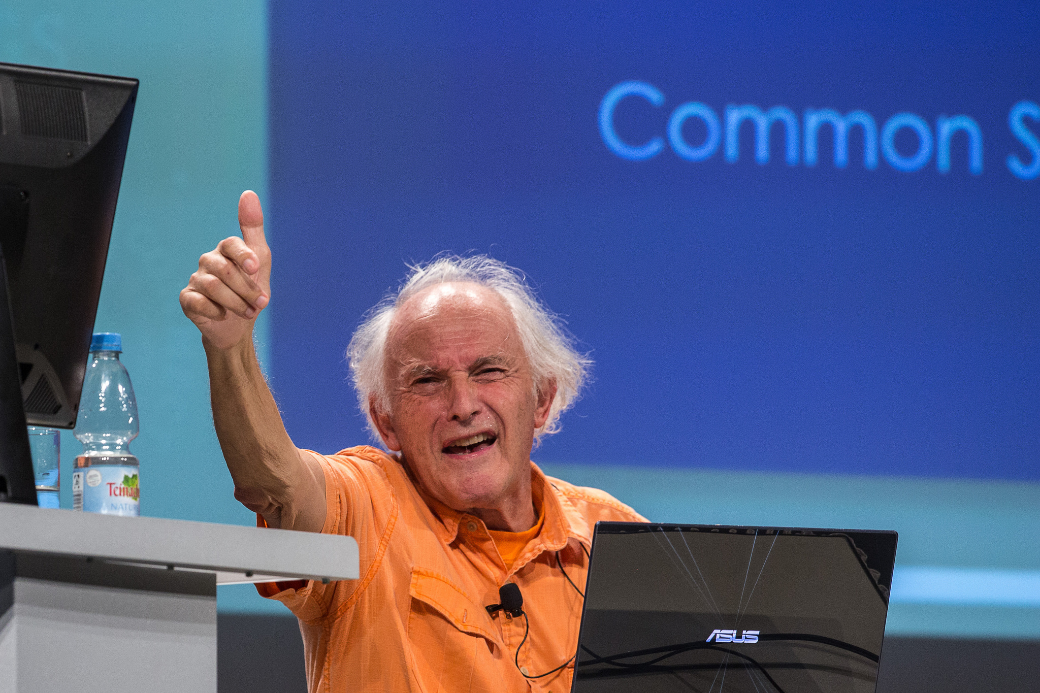 Sir Harold Kroto (Picture/Credit: Christian Flemming/Lindau Nobel Laureate Meetings)