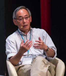 Steven Chu in Lindau during a panel discussion about interdisciplinarity. Photo: Ch. Flemming/LNLM