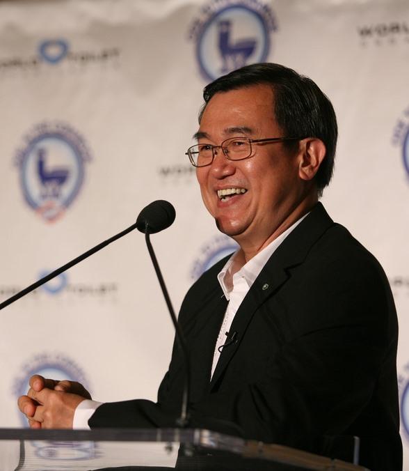 Jack Sim, Erfinder des Welttoilettentags und Gründer der World Toilet Organization in Singapur. Photo: Clorox Toilet Products, Creative Commons Attribution 2.0 Generic license