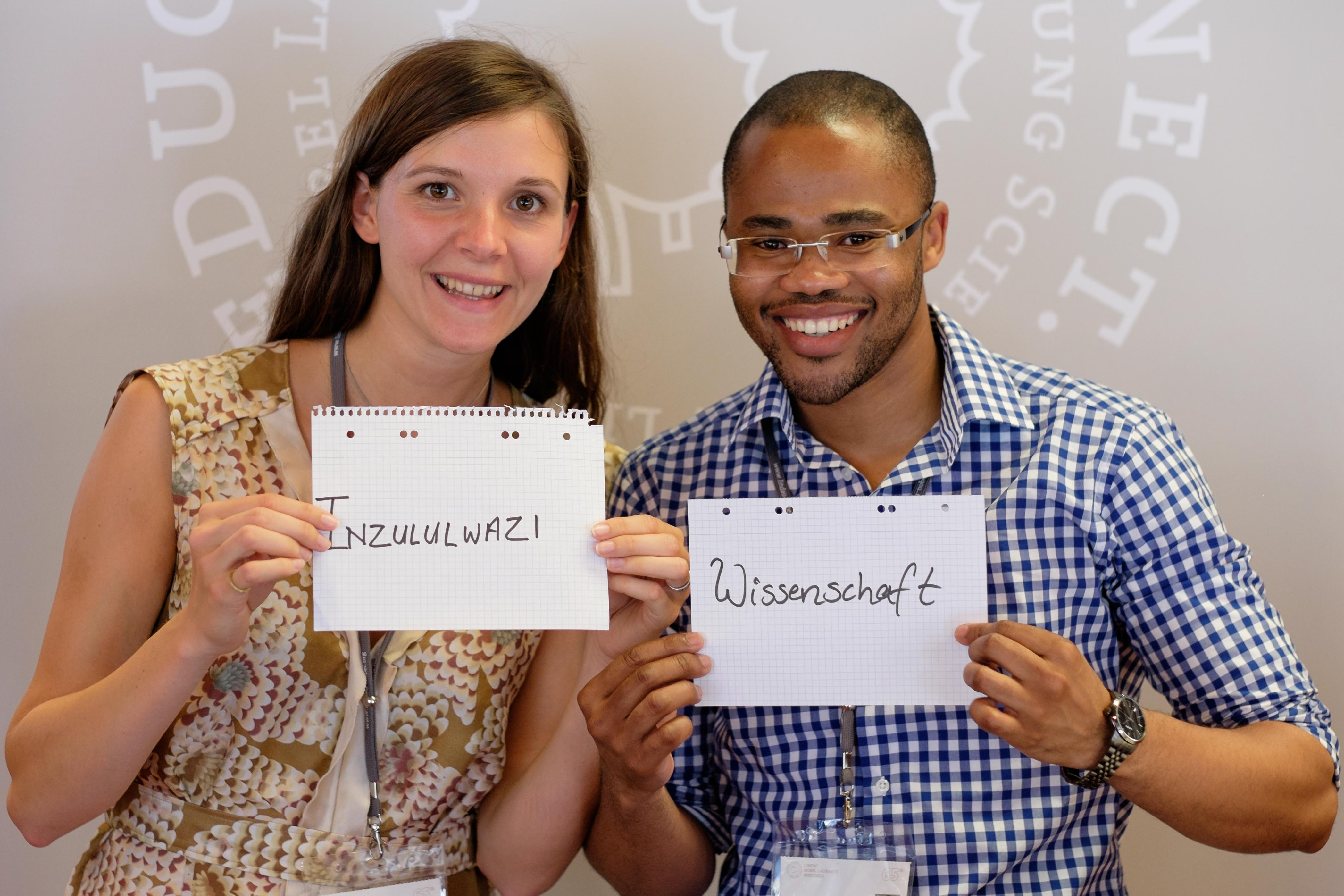 Sarah Katharina Meisenheimer with Osmond Mlonyeni at #LiNo15.