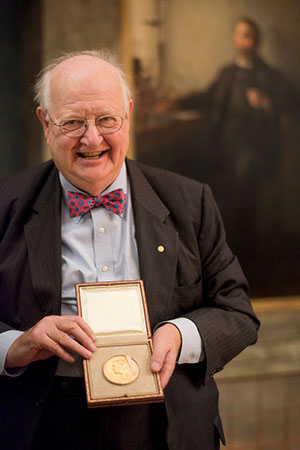 Angus Deaton with his Nobel Prize medal in Stockholm in December 2015.