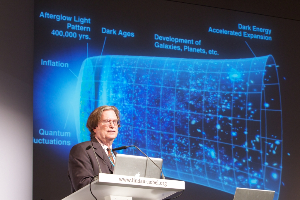 George during his 2010 lecture at Lindau. Photo: Ch. Flemming/Lindau Nobel Laureate Meeting