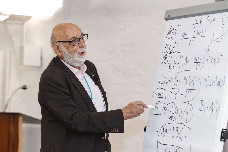 François Englert 2015 in Lindau. Foto: R. Schultes/Lindau Nobel Laureate Meetings