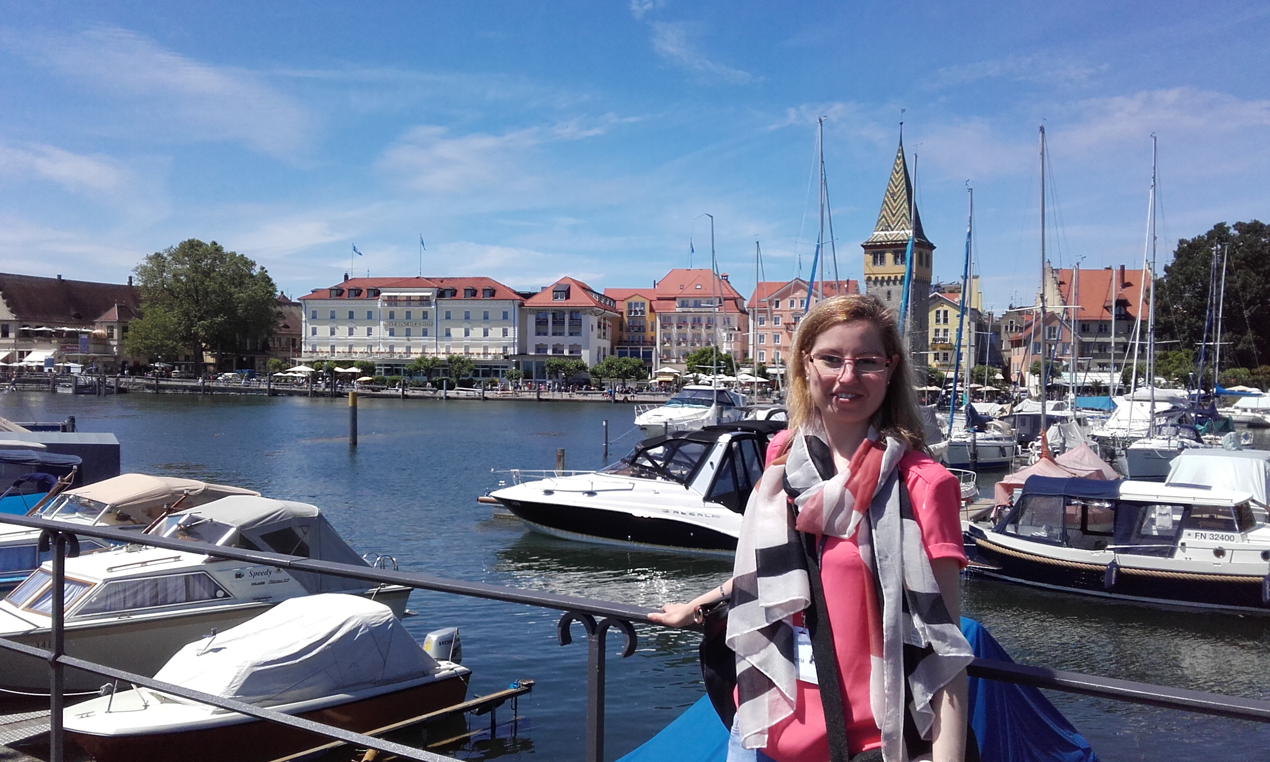 Ana at the harbor in Lindau