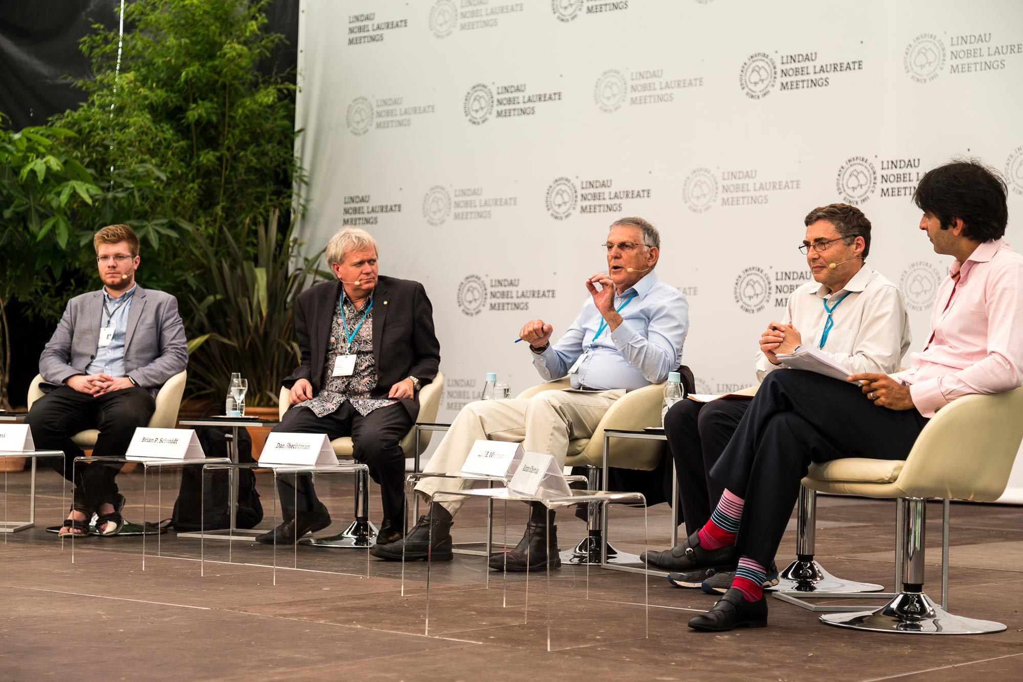 On the last day of #LiNo16 the future of science and education was the topic of a panel discussion. Photo: Ch. Flemming/Lindau Nobel Laureate Meetings.