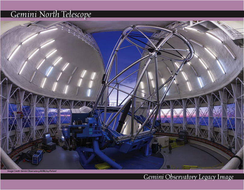 The inside of Gemini North, on Mauna Kea, Hawaii (credit: Gemini Observatory/AURA/Joy Pollard)