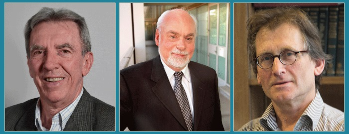 Jean-Pierre Sauvage, Sir J. Fraser Stoddart, and Bernard L. Feringa (from left). Photos:  I.S.I.S. Laboratory of Inorganic Chemistry, California NanoSystems Institute, Wybe, CC BY-SA 4.0