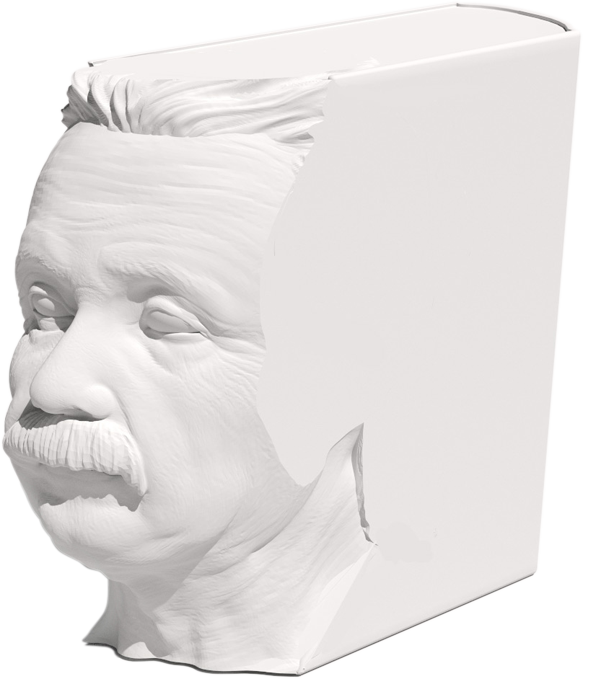 A model of the 3D-printed Einstein book