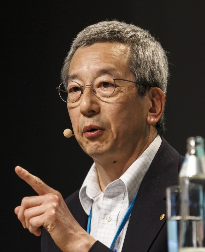 Roger Tsien giving his 2014 lecture at the 64. Lindau Nobel Laureate Meeting. Photo: Rolf Schultes/Lindau Nobel Laureate Meetings