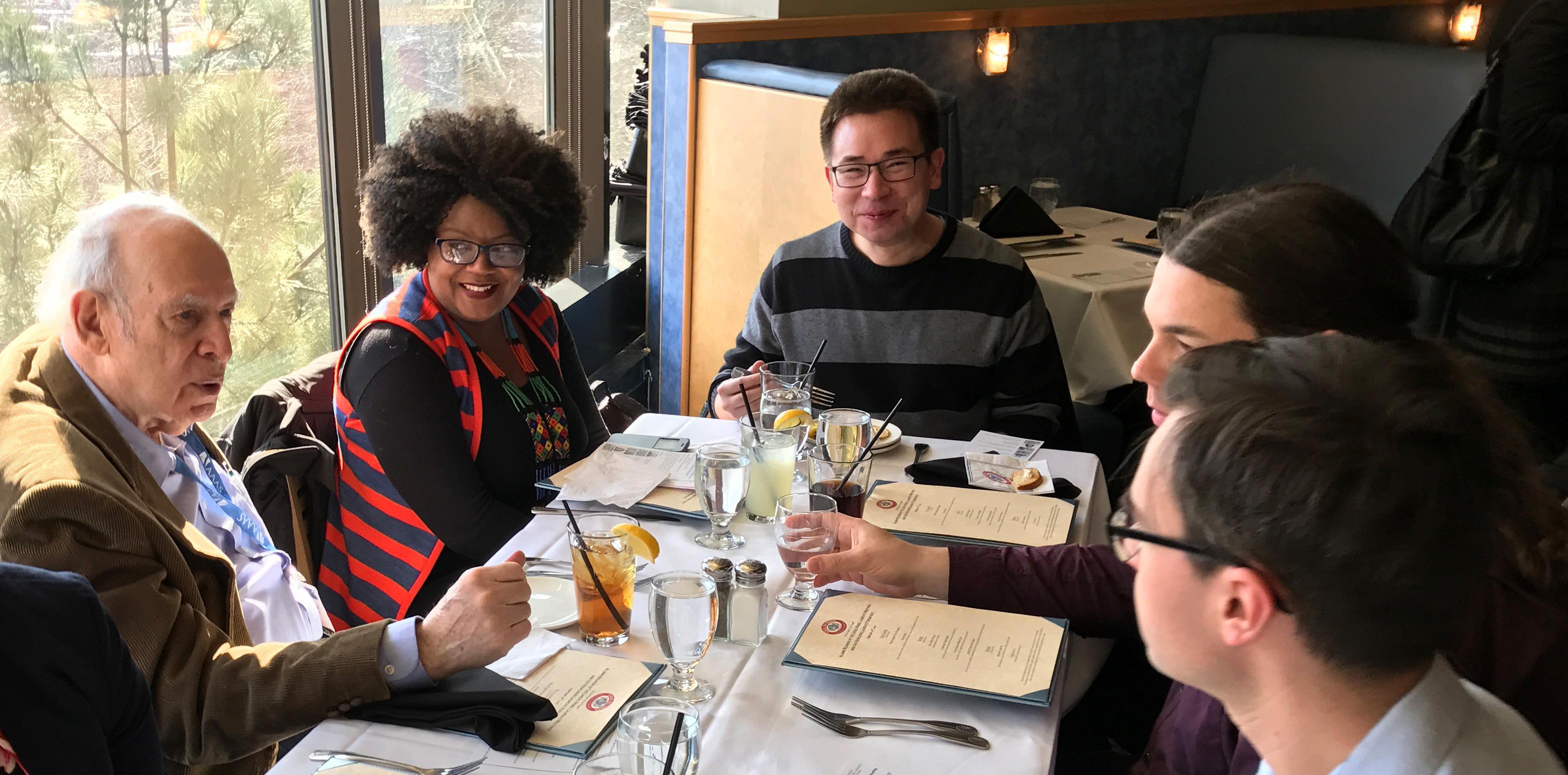 Nobel Laureate Jerome Friedman at the alumni reunion lunch. Photo: Gero von der Stein
