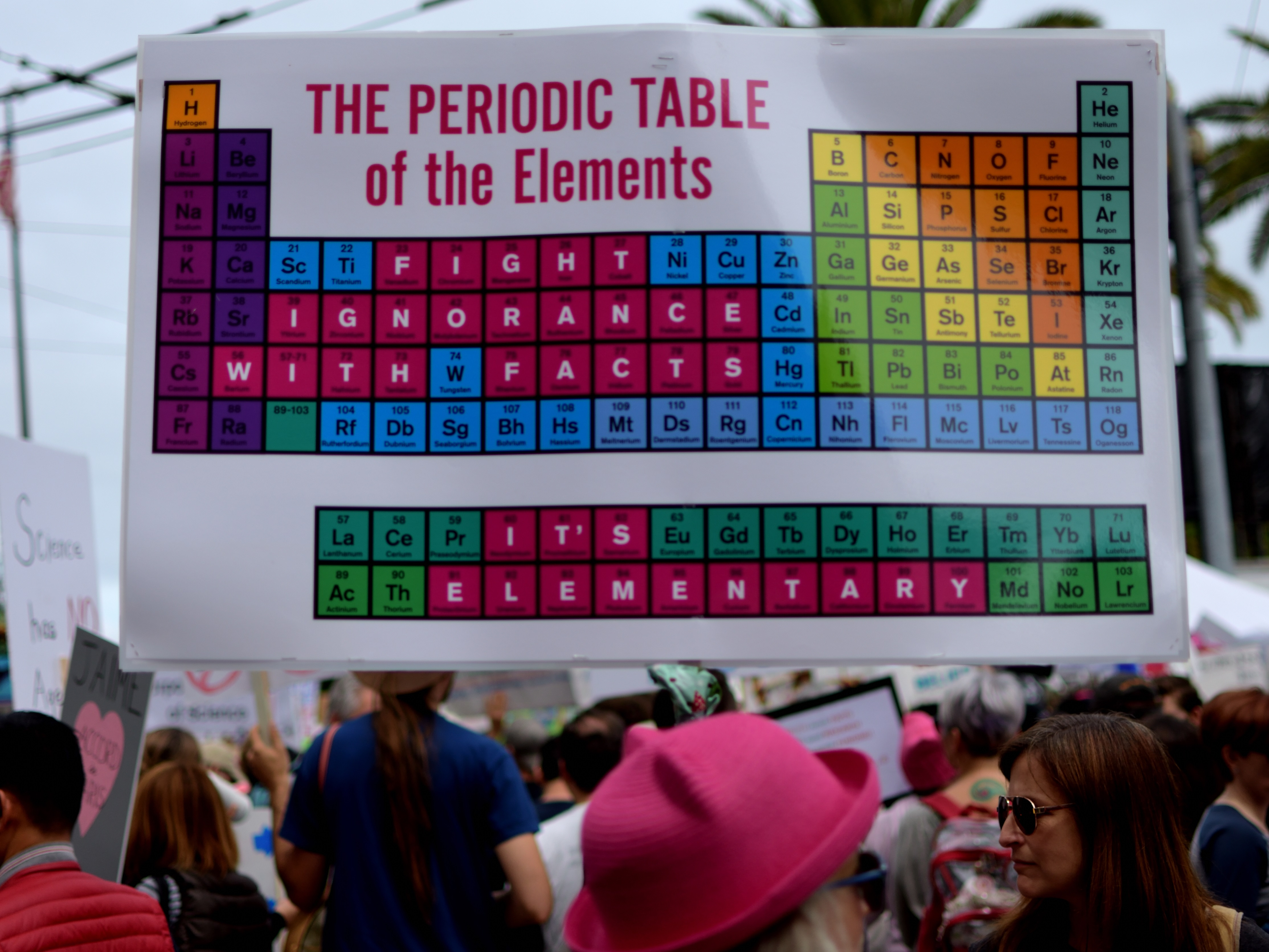 A sign from the March for Science in San Francisco, California, on 22 April 2017. Photo: Tom Hilton/Flickr (CC BY 2.0)