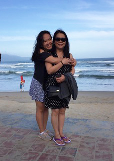 Thao and her mum. Photo: Courtesy of Thao H. Ngo