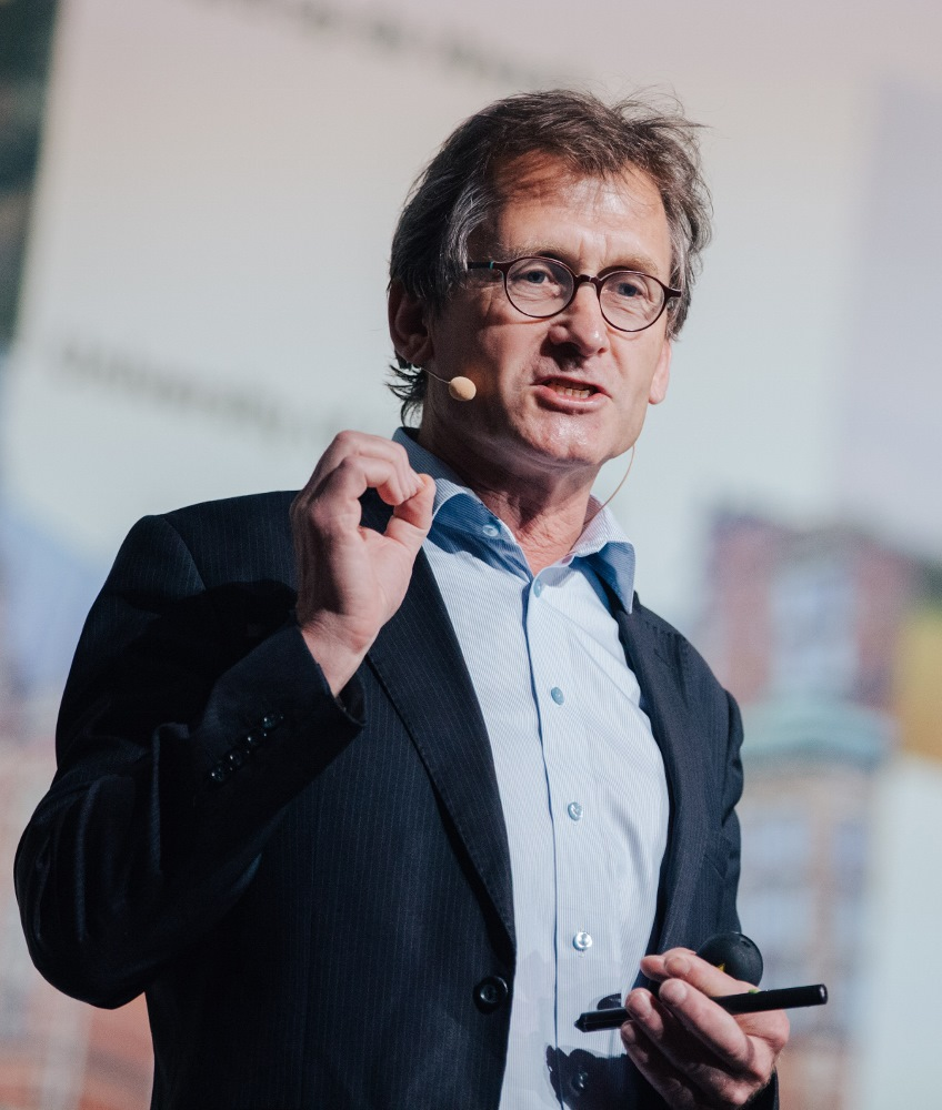 Ben Feringa am 26. Juni 2017 in Lindau während seines Vortrags 'The Joy of Discovery'. Foto: Julia Nimke/Lindau Nobel Laureate Meetings Lecture Bernard Feringa