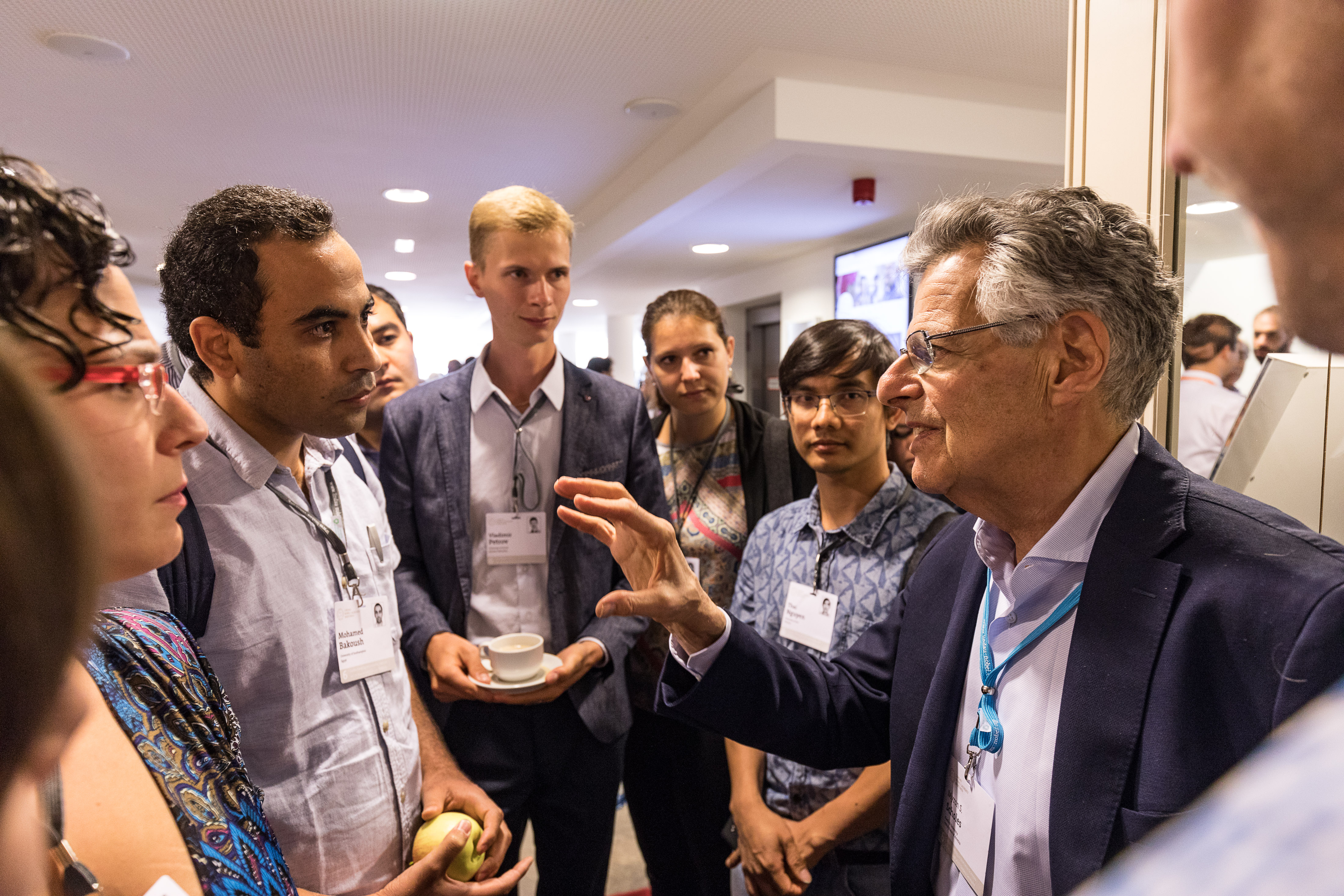 Myron Scholes in talk with young economists 6th Lindau Meeting on Economic Sciences 23.08.2017 - 26.08.2017, Lindau, Germany, Picture/Credit: Christian Flemming/Lindau Nobel Laureate Meetings