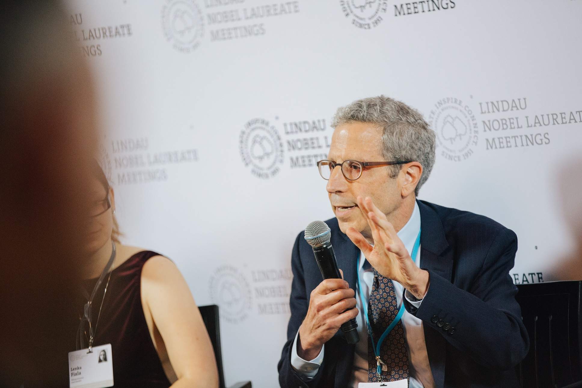 Eric Maskin during the Press Talk at the 6th Lindau Meeting on Economic Sciences. Picture/Credit: Julia Nimke/Lindau Nobel Laureate Meeting