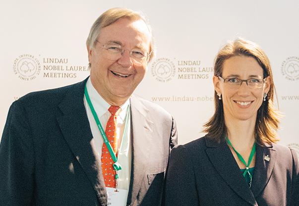Prof. Jürgen Kluge and Countess Bettina Bernadotte af Wisborg