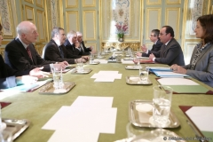 The Mainau Declaration is handed over to French President Francois Hollande