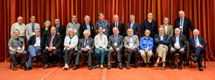 Group photo of 26 participating Nobel Laureates of the 64th Lindau Nobel Laureate Meeting. (c) LNLM/C. Flemming