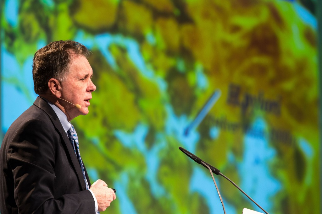 Barry Marshall in LIndau 2014 ©Christian Flemming / Lindau Nobel Laurate Meetings