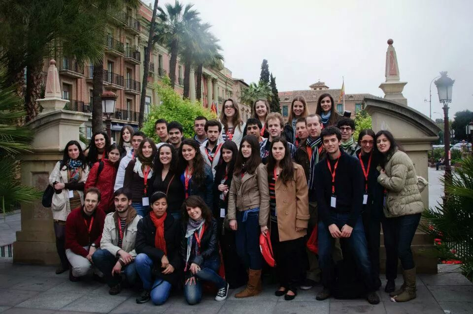 Members of the Spanish Biology Olympiad in Murcia (Spain) Credit: Charles Breeze
