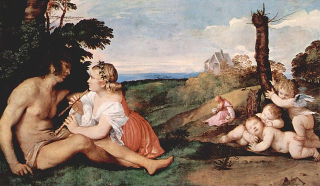 Painting by Titian: Three Ages of Man