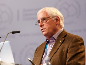 John E. Walker in Lindau 2013 ©Rolf Schultes / Lindau Nobel Laureate Meetings