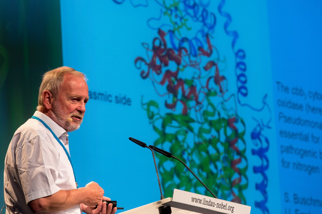 Hartmut Michel won the 1988 Nobel Prize in Chemistry, together with Johann Deisenhofer and Robert Huber. #lnlm14. (c) Ch. Flemming LNLM