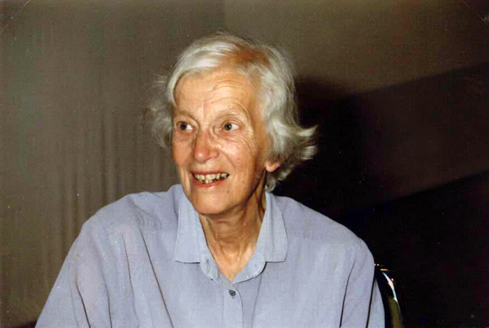 Dorothy Hodgkin at her last visit in Lindau, 1989. Photo: Archiv Jacobs/Lindau Nobel Laureate Meetings
