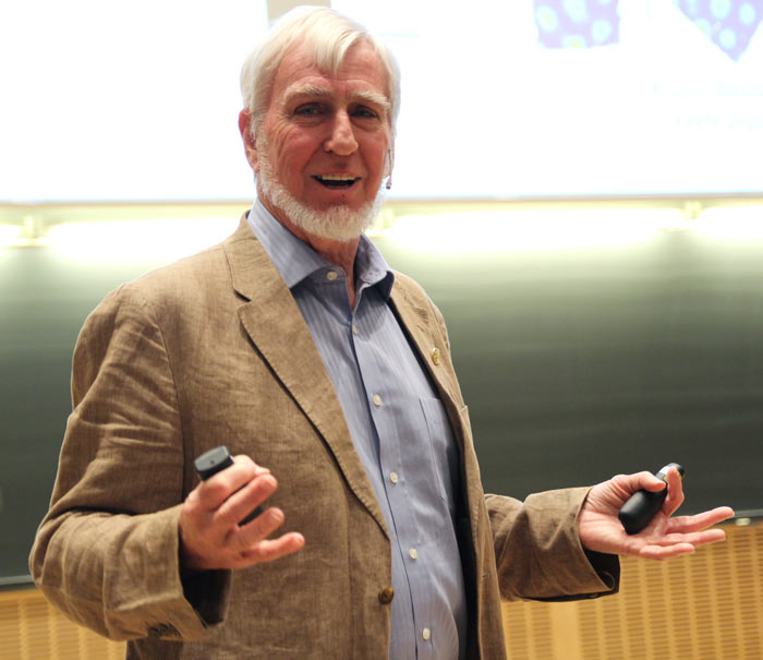 2014 Nobel Laureate in physiology or medicine John O'Keefe. Photo: Per Henning/NTNU @ FlickR (licensed under Creative Commons).