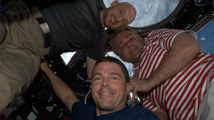 With Reid Wiseman and Maxim Suraev, Alex Gerst has trained for months. Photo: ESA/NASA