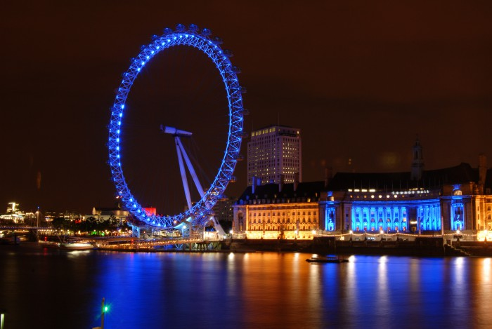 The symbol of the World Diabetes Day is a blue circle - the London Eye depicts this symbol perfectly. Photo: Yoga Balaji