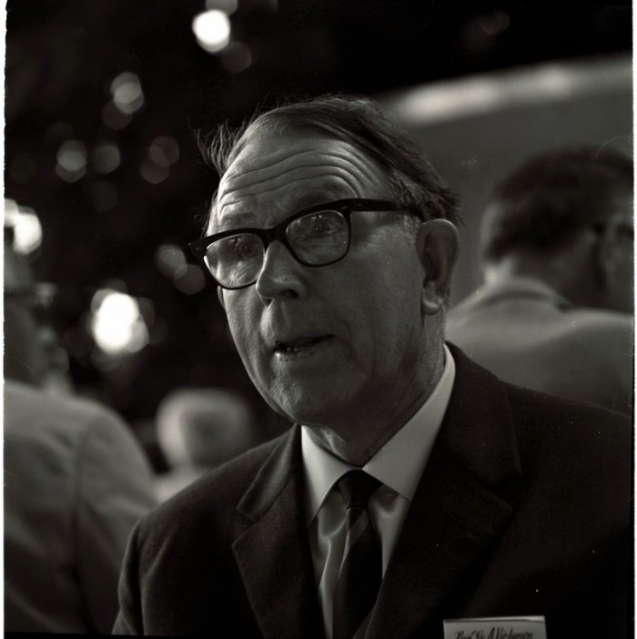 Artturi Virtanen (1895-1973) at the 1958 Lindau Nobel Laureate Meeting. Photo: LNLM