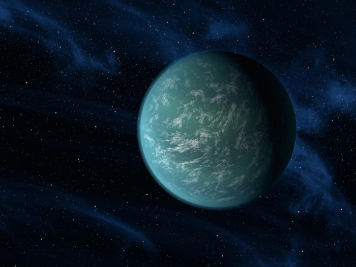 Artist's impression of Kepler-22b as an oceanic
