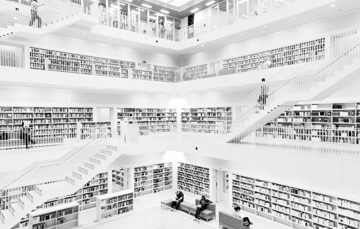 Bibliothek Stuttgart. Photo: marcelwidmann (CC BY-NC-ND 2.0)