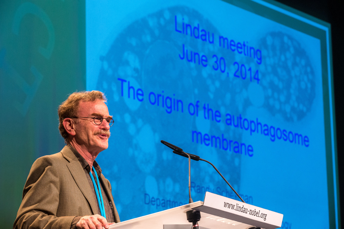 Randy Schekman at Lindau in 2014. Photo: C.Flemming/Lindau Nobel Laureate Meetings