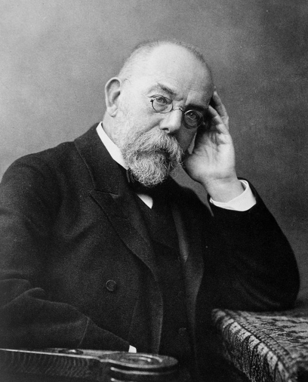 Robert Koch 1843-1910, photogravure after a photo by Wilhelm Fechner around 1900, public domain