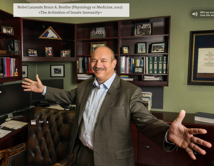 Bruce Beutler in seinem Büro an der University of Texas Southwestern Medical Center.