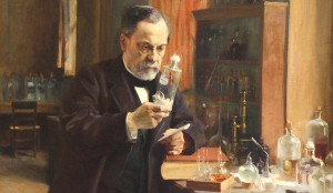 Louis Pasteur, Ausschnitt aus einem Gemälde von Albert Edelfelt, Foto: Ondra Havala (Public Domain)