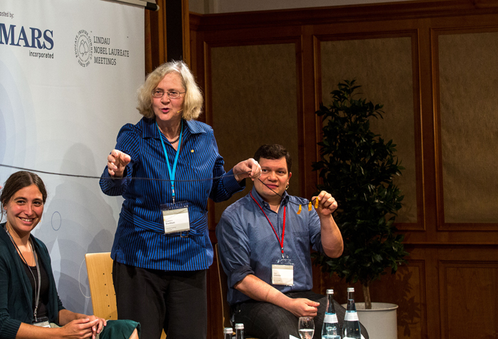 Prof. Elizabeth Blackburn at the 64th Lindau Nobel Laureate Meeting. Photo: C. Flemming/Lindau Nobel Laureate Meetings