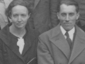 Irène Curie-Joliot und Frédéric Joliot, Internationale Konferenz für Physik London 1934; Foto: GFHund, CC BY 3.0